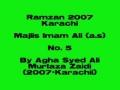 5-Majlis Imam Ali as - Ramadan 2007 Karachi - Urdu