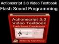 5 Actionscript 3.0 Sound Programming Video Textbook Flash CS4 CS5 MP3 Tutorials - English