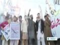 [05 Dec 2013] Pakistan provincial govt members stage sit in against US drones - English