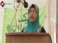 [یوم مصطفی ص] Speech : Sis. Zainab - 04 Feb 2014 - Karachi University - Urdu