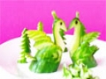 Art In Cucumber Show- Fruit Carving Swans Tutorial - All languages